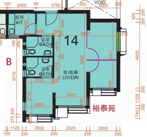 裕泰苑3房B