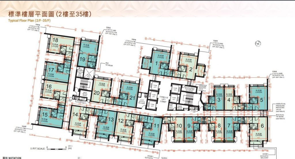 錦暉苑樓層平面圖