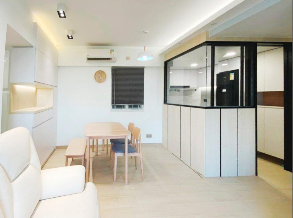 廚房半高玻璃